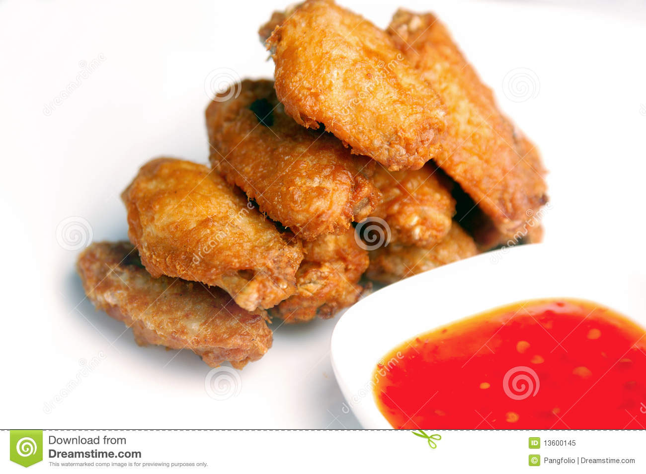 Asian style deep fried chicken with sweet chili sauce.