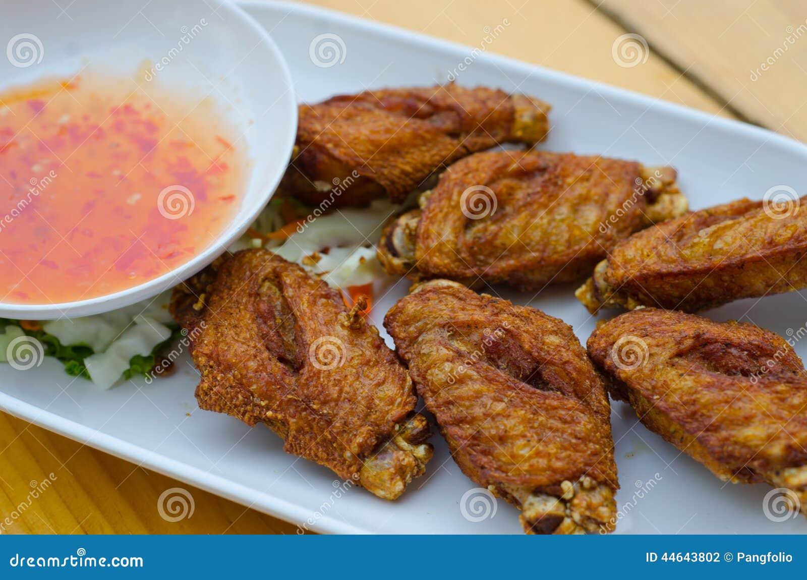 Thai style deep-fried chicken.
