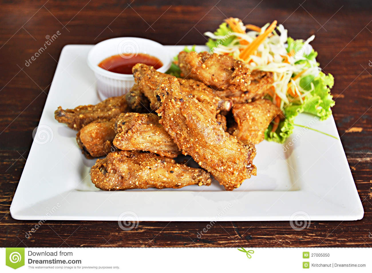 Deep Fried Chicken Wings Stock Photo - Image: 27005050