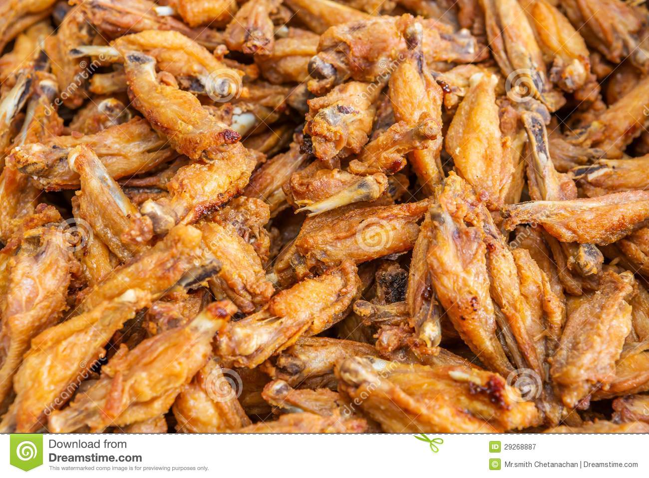 Royalty Free Stock Photography: Deep fried chicken wings