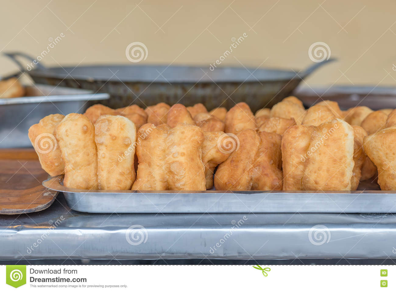 Deep-fried dough stick; Chinese donut; chinese bread stick.