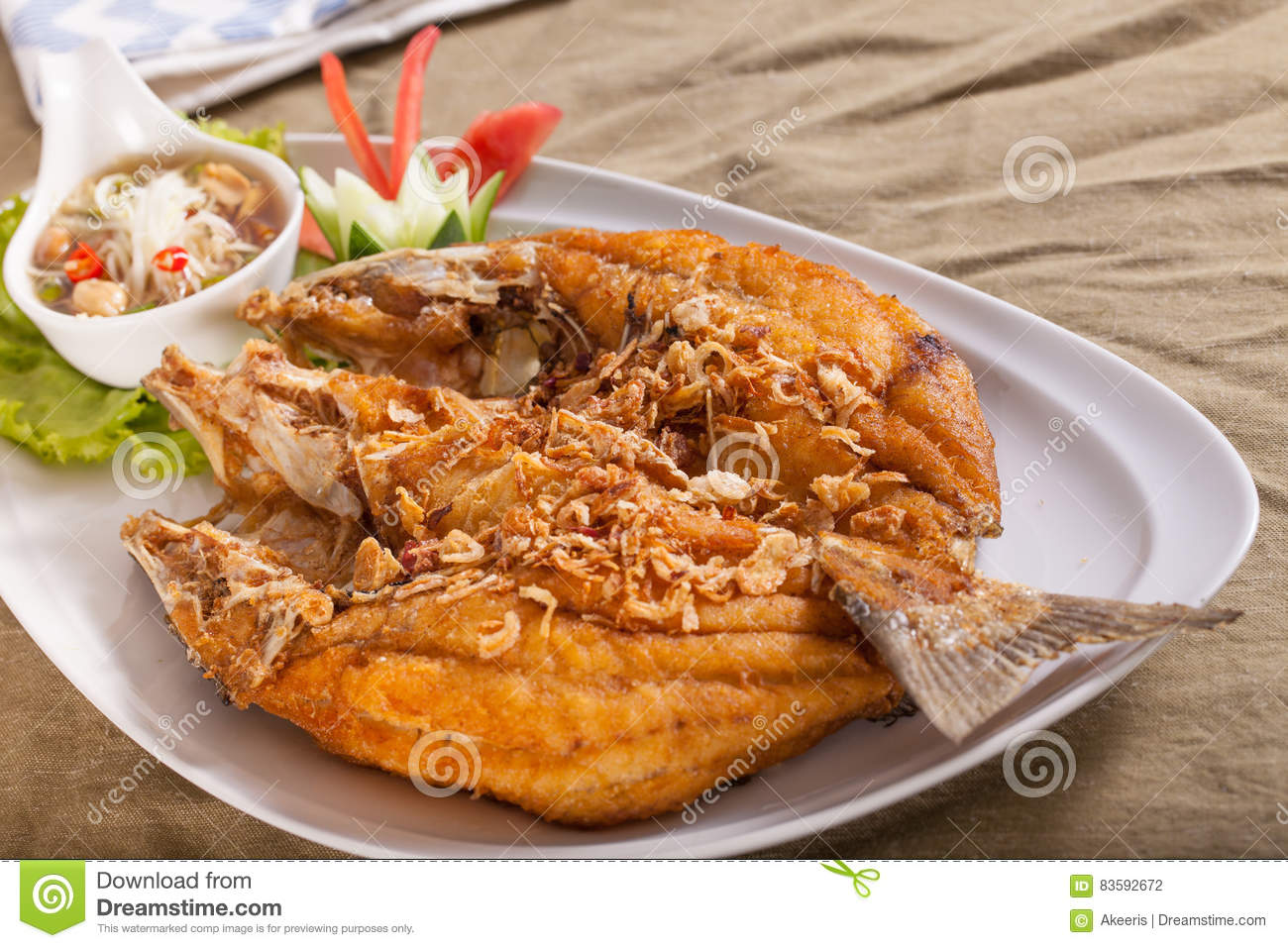 Deep fried whole fish thai style for Deep fried whole fish