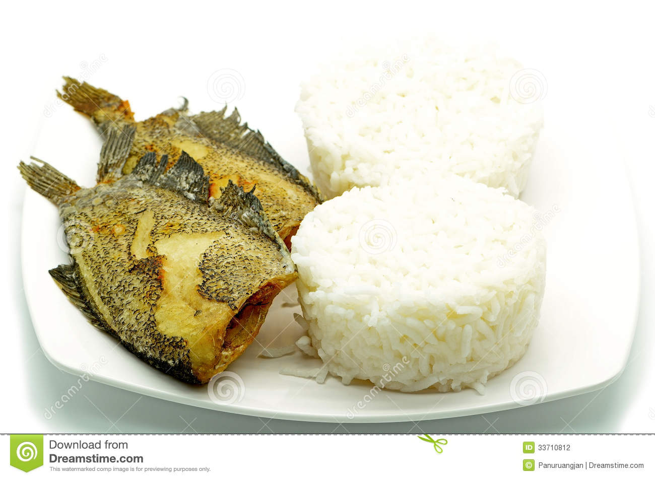Deep Fried Fish Stock Photography Image 33710812