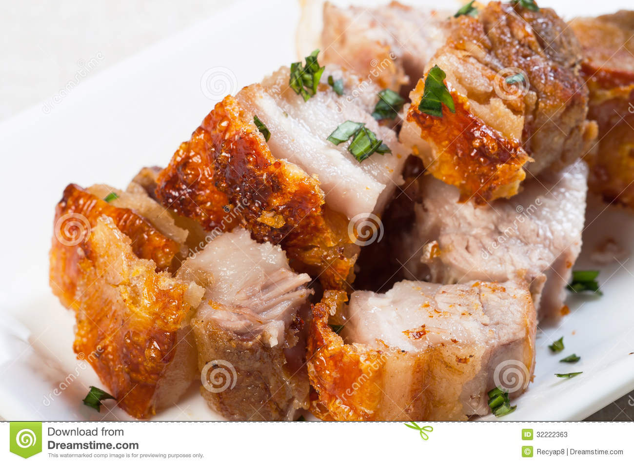 Deep Fried Pork Belly With Liver Sauce Stock Photos - Image: 32222363