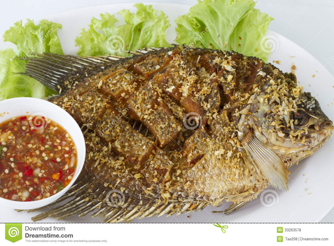Deep fried red tilapia fish royalty free stock photos for Fried tilapia fish