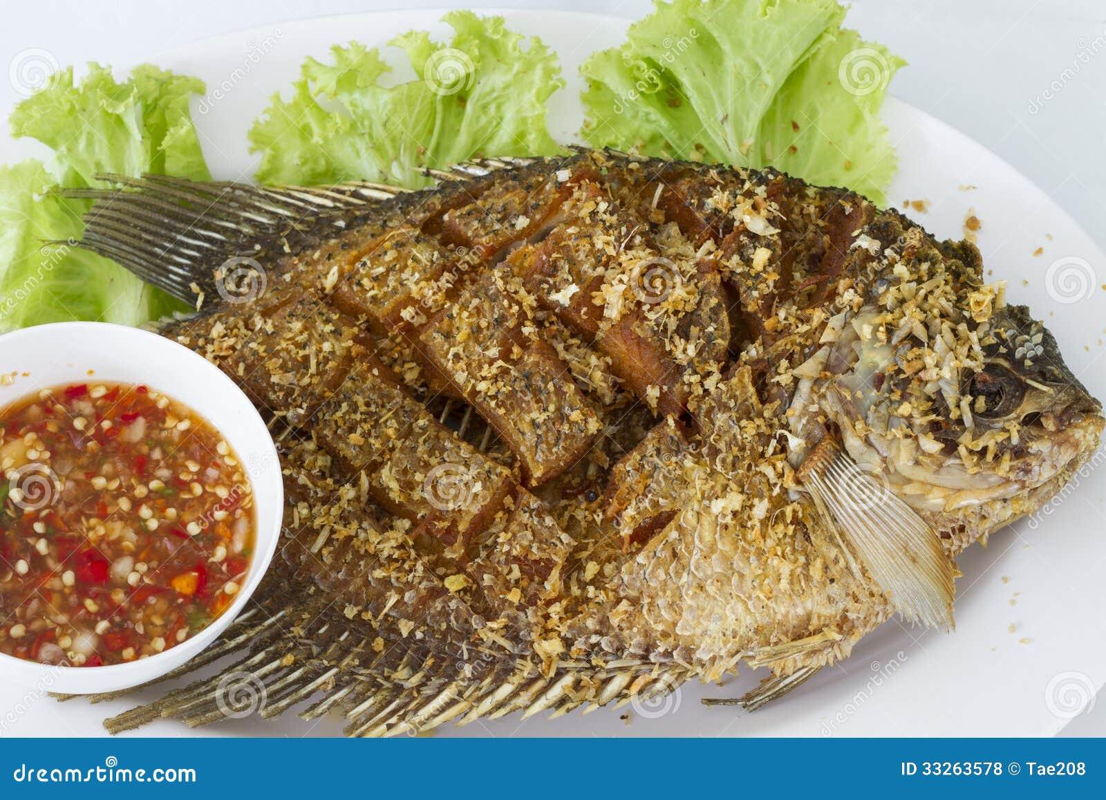 Deep Fried Red Tilapia Fish Royalty Free Stock Photos - Image ...