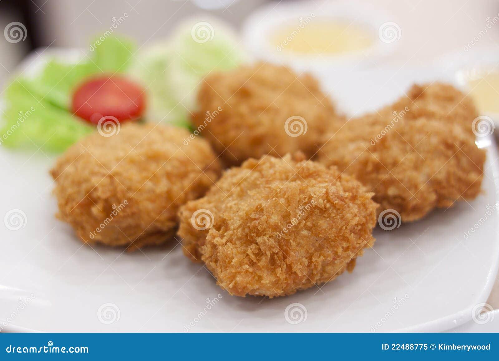 Deep Fried Shrimp Cakes Royalty Free Stock Photo - Image: 22488775