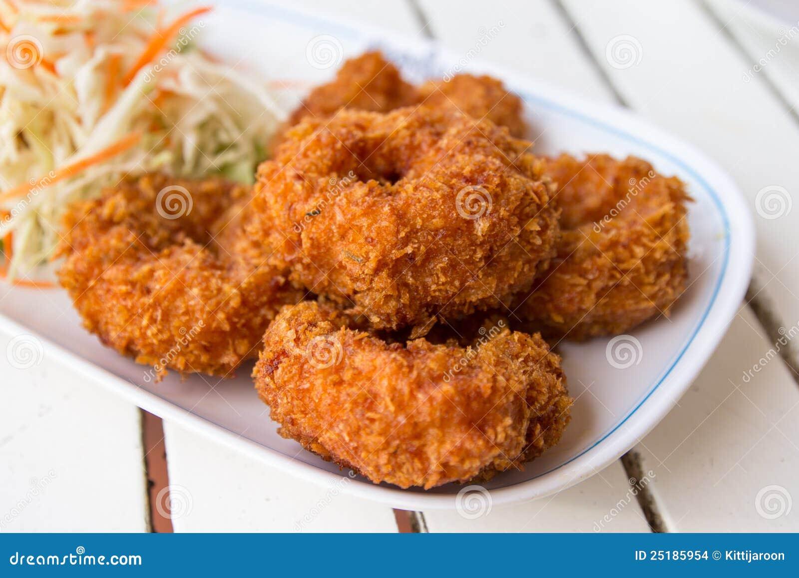 Deep Fried Shrimp Cakes Stock Images - Image: 25185954