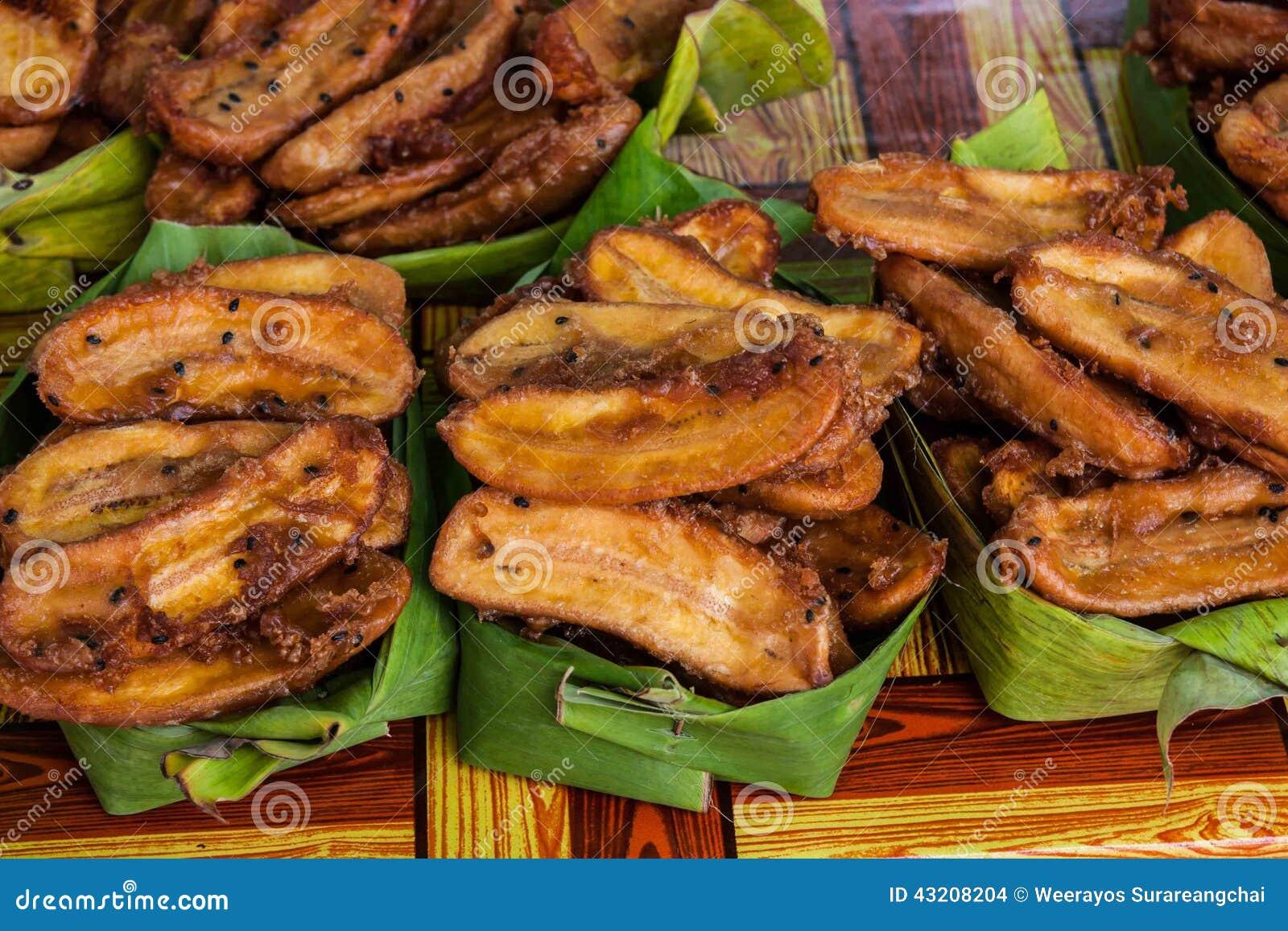Download Deep-fried Skivade Bananen (Kluay Khek), Thailand Arkivfoto - Bild av mjöl, många: 43208204