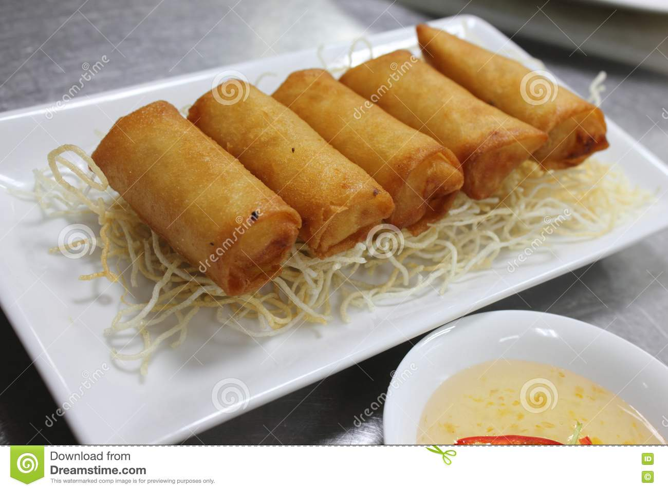 Deep Fried Spring Rolls Stock Images - Image: 24526734