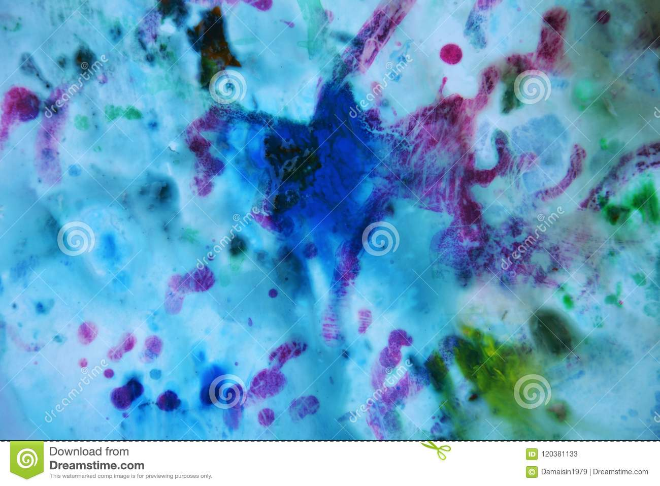 bb87ee55cae27 Abstract Mixed Purple Blue Colors And Hues Abstract Unique Wet