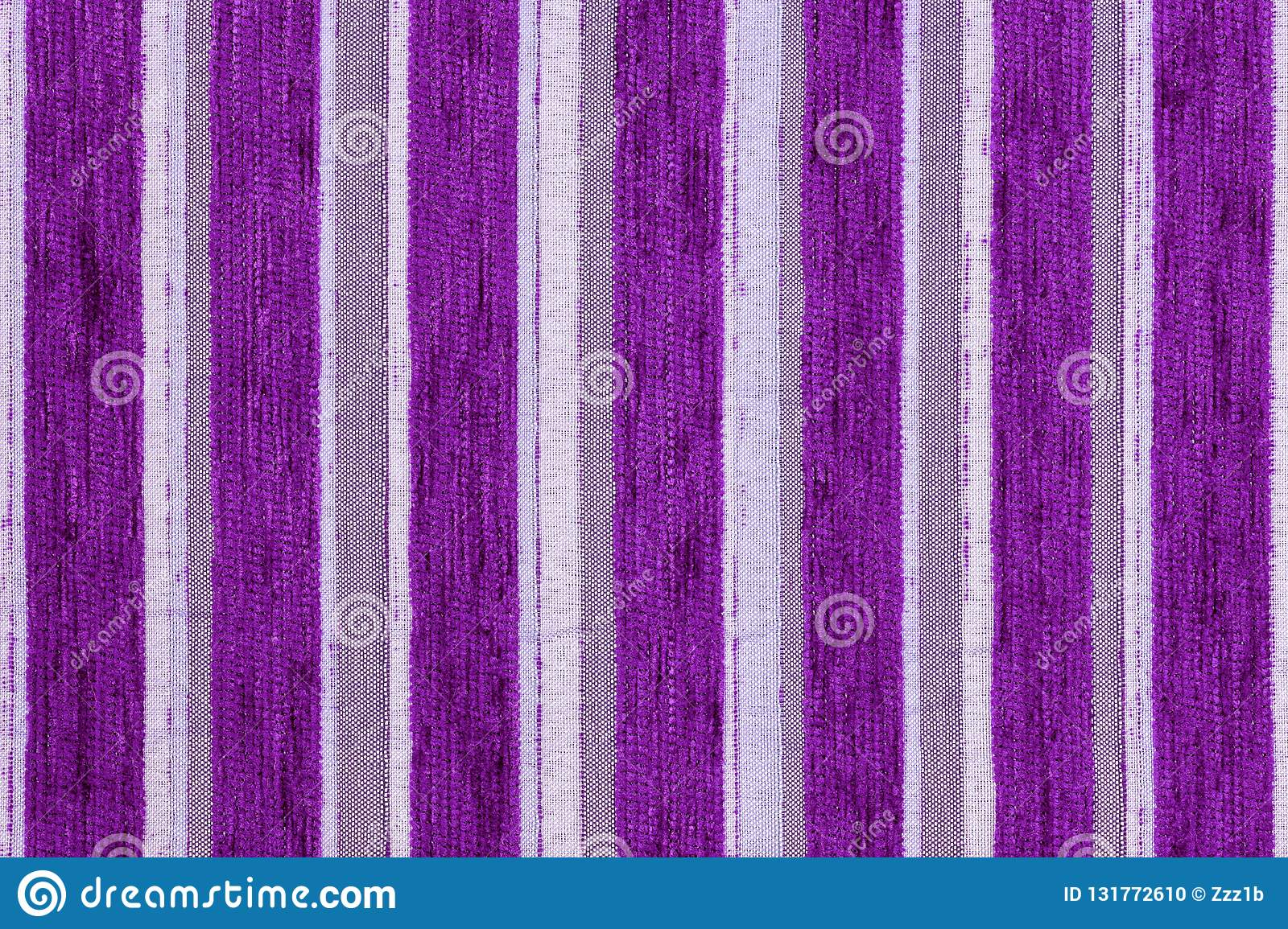 Dark Purple Vertical Stripes Synthetic Woven Upholstery Fabric Close