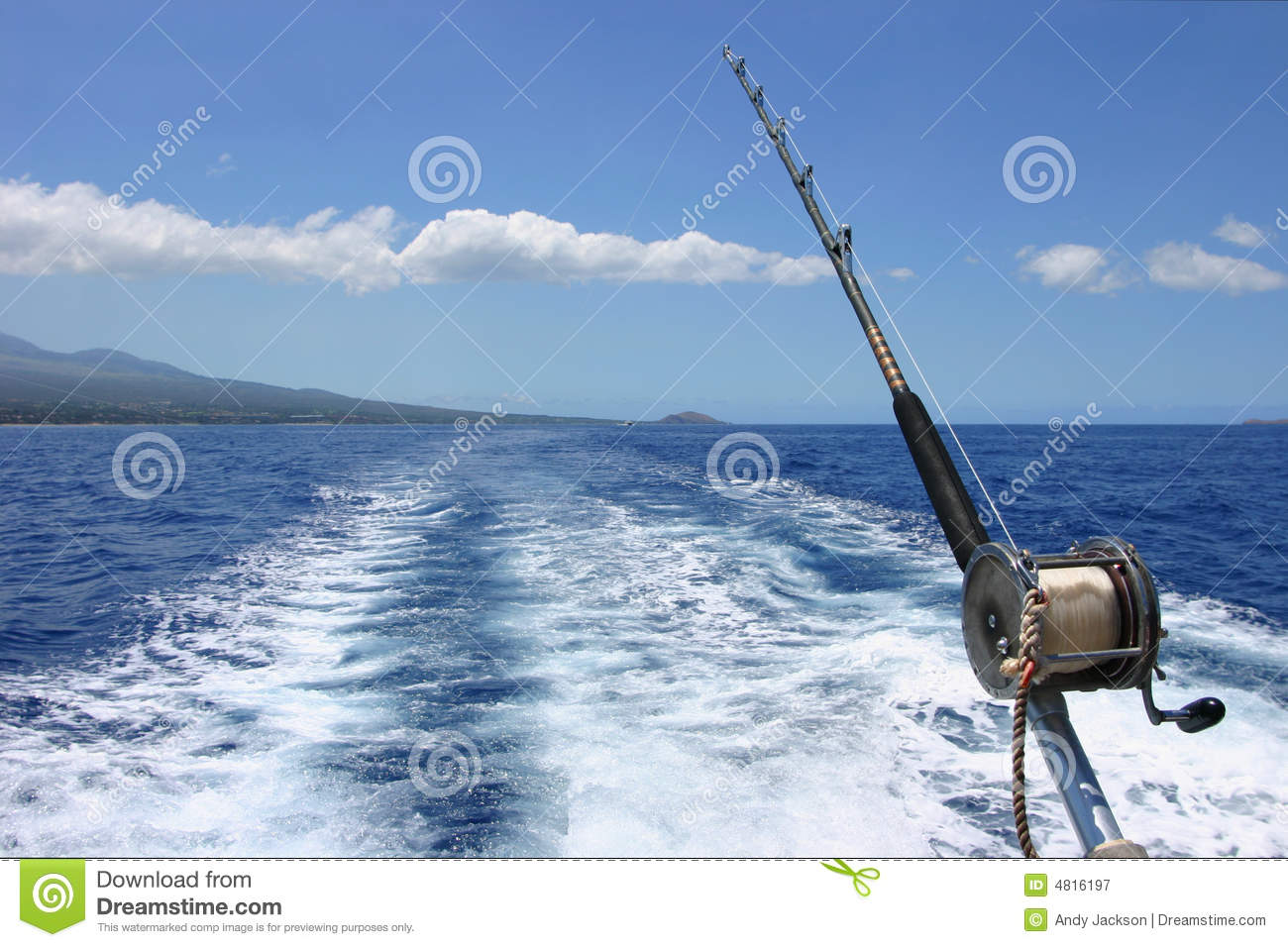 deep sea fishing in maui hawaii royalty free stock