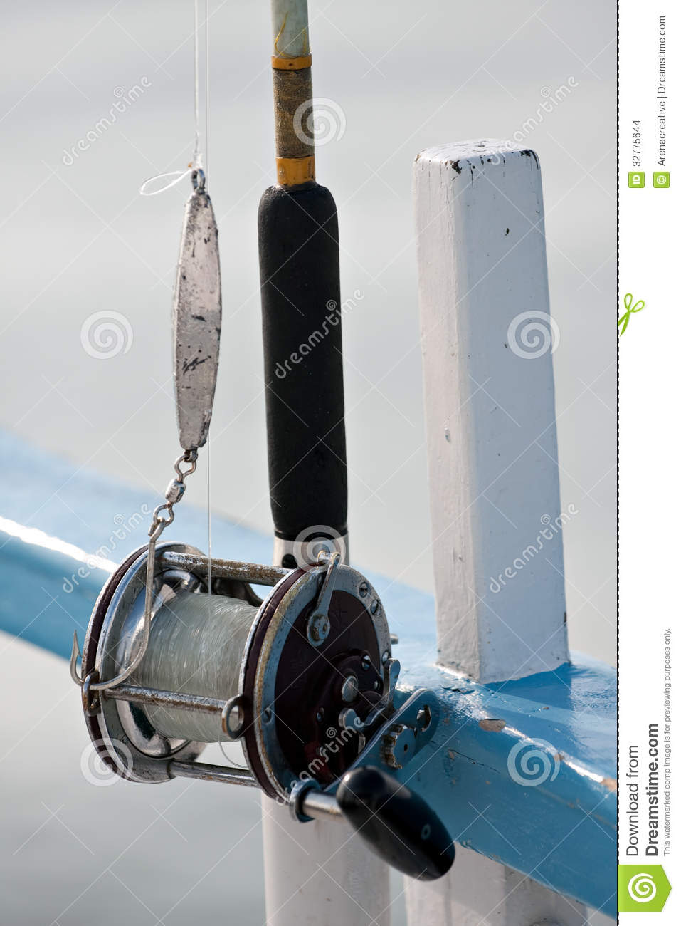 Deep Sea Fishing Reel Stock Images - Image: 32775644