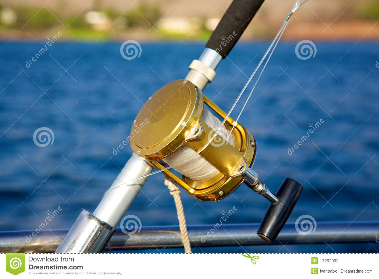 A Deep Sea Fishing Rod And Reel Stock Photography Image
