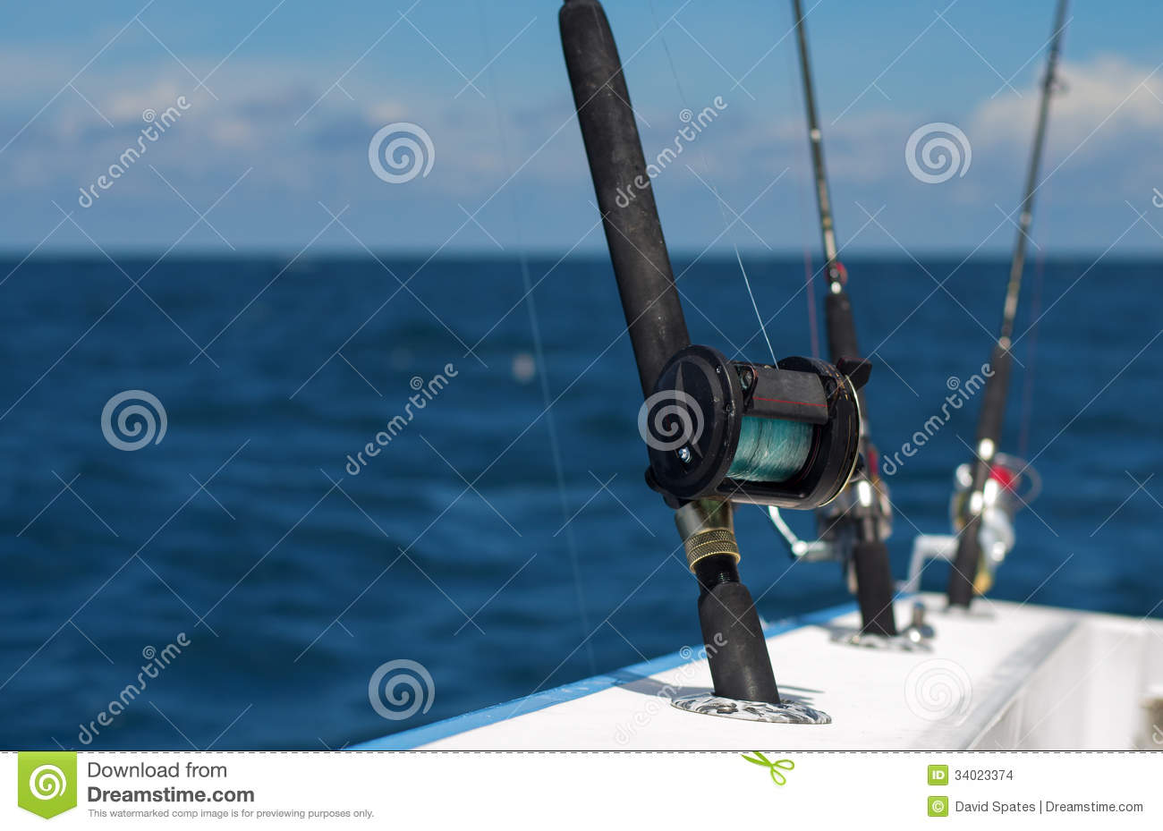 Deep sea fishing rods stock images image 34023374 for Sea fishing rods