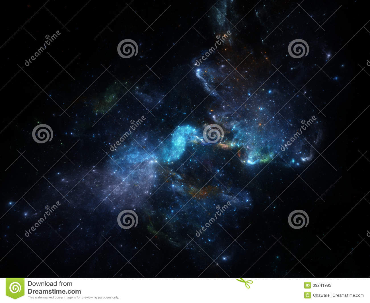 Deep spcae background with nebula and galaxies stock for Space created