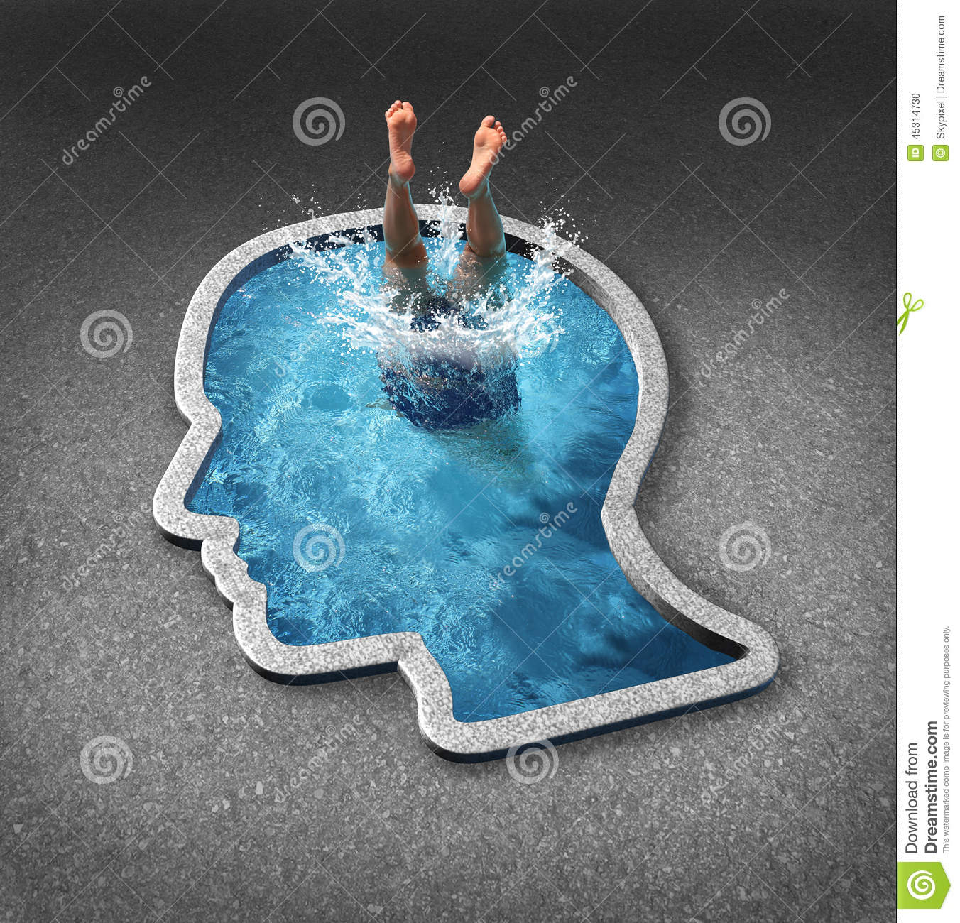Deep Thinking Stock Illustration Image 45314730