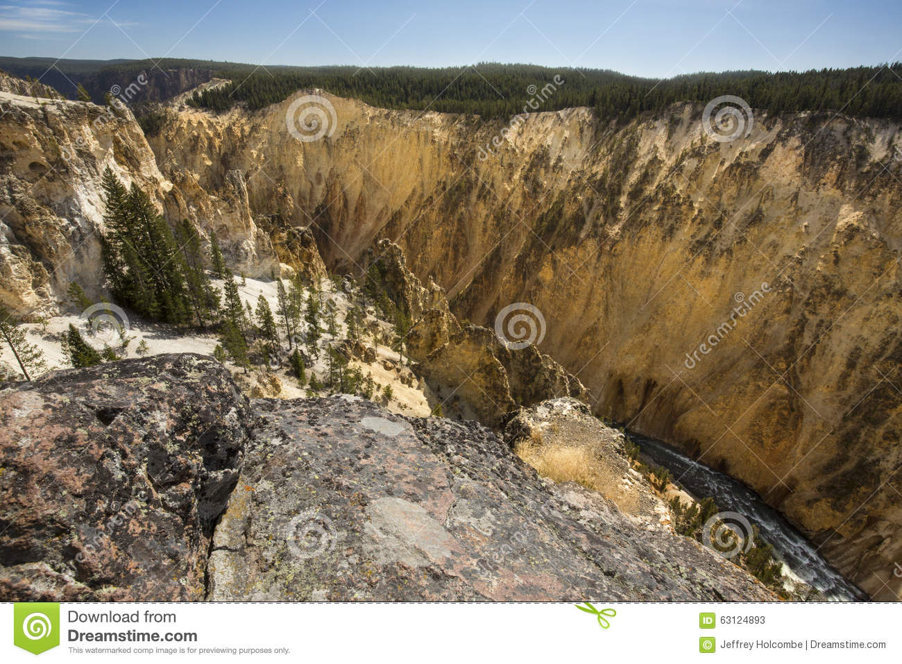 Grand Canyon Of The Yellowstone River Royalty Free Stock Image ...