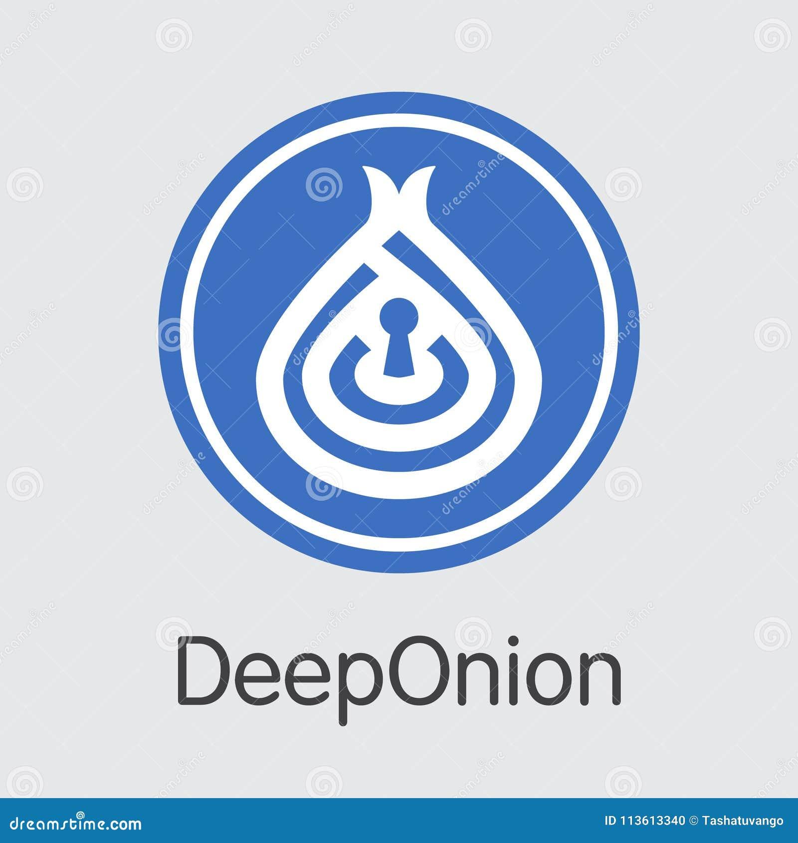 Deeponion Crypto Currency Vector Pictogram Symbol Stock Vector