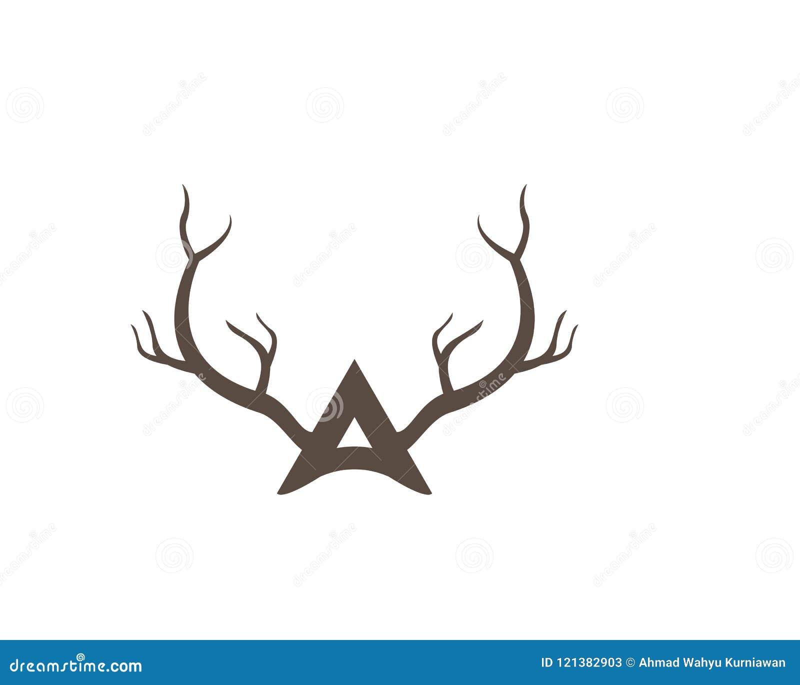 antler ilustration logo vector stock vector illustration of