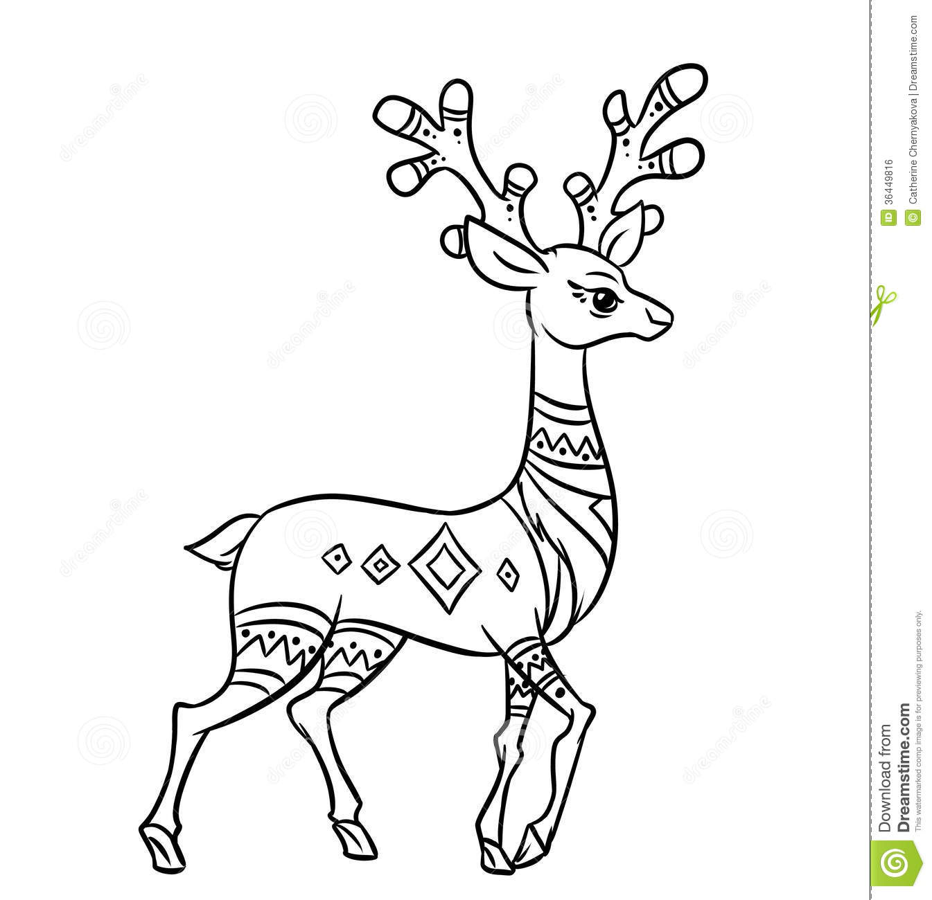cartoon deer coloring pages - photo#23