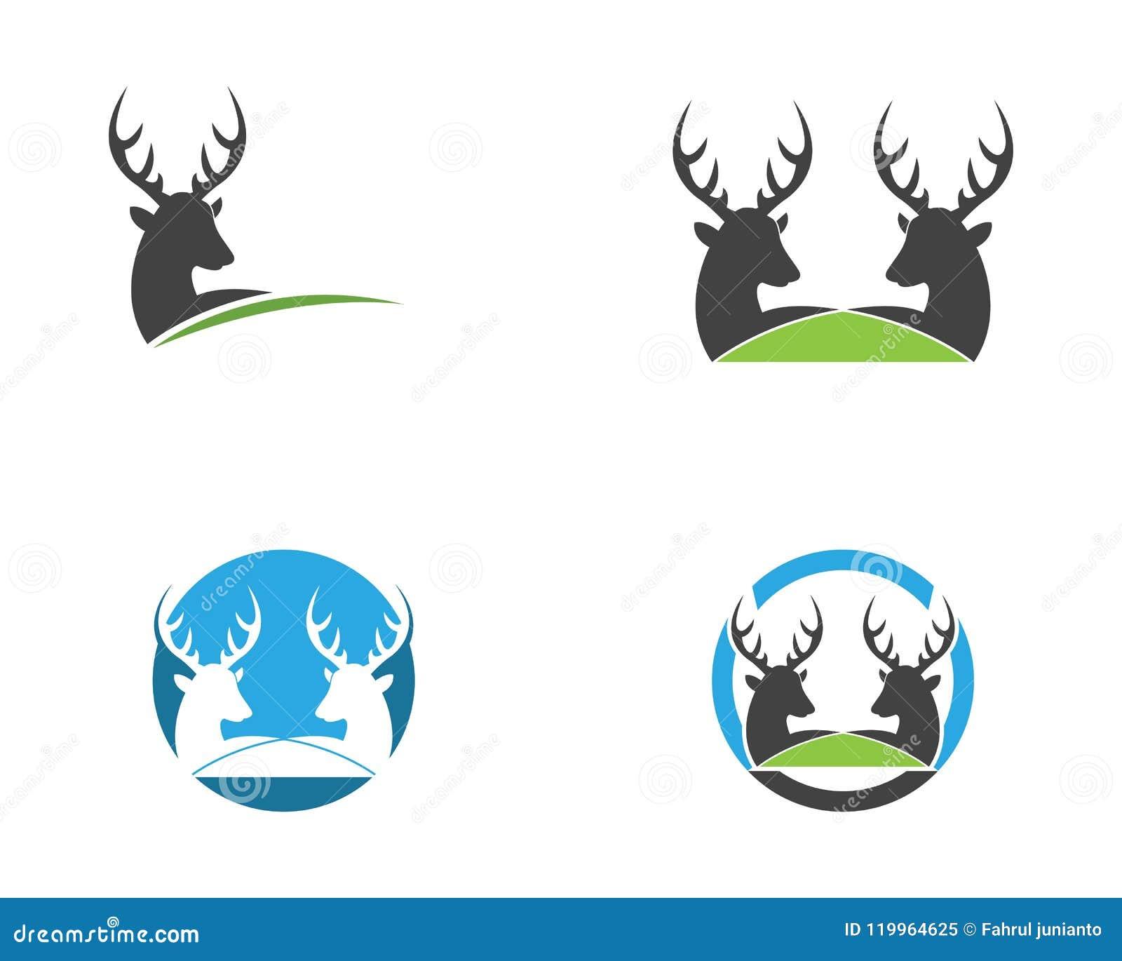 Deer Head Icon Logo Vector Template