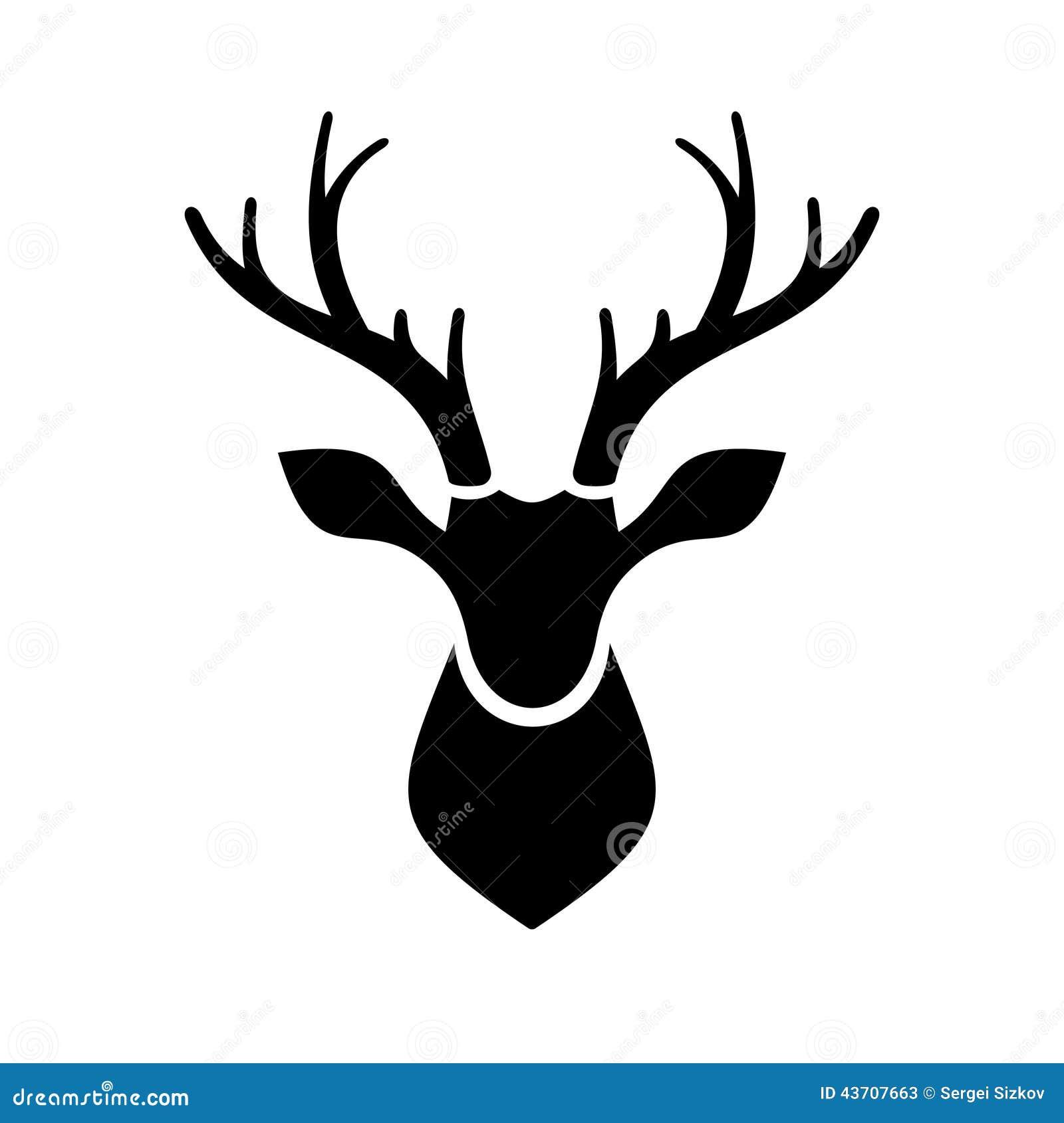 Stag Head Designs Deer Head Icon Vector Logo Stock Vector Image 43707663