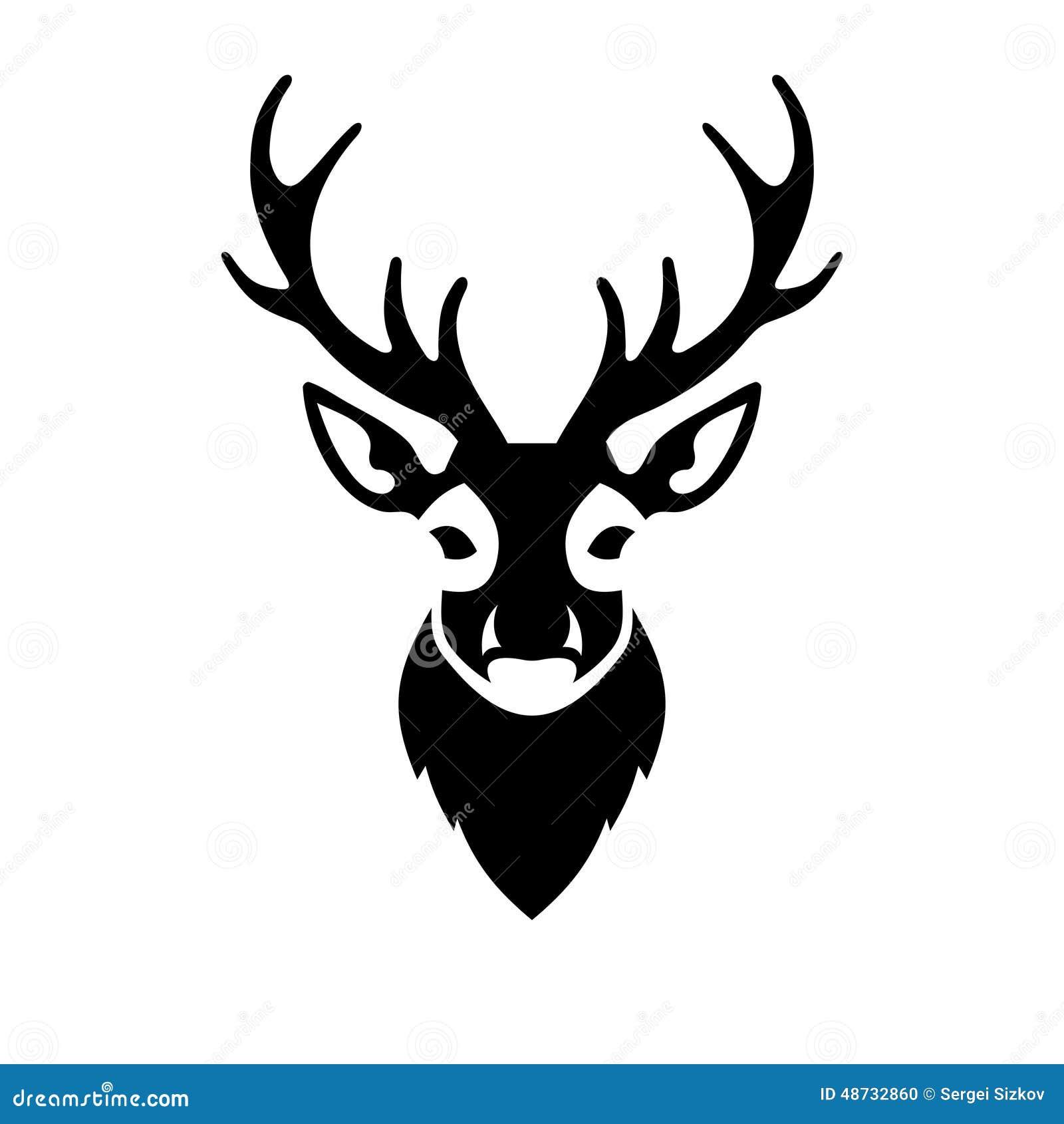 Deer Head Icon Vector Logo Stock Vector - Image: 48732860