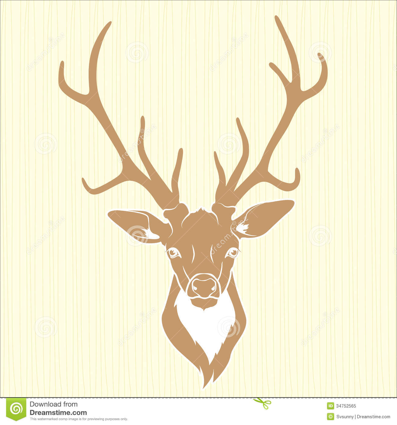 Deer Head Isolated Royalty Free Stock Photo - Image: 34752565