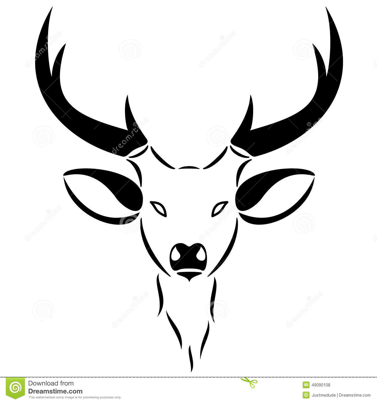 Head Of A Male Deer Ideal As An Emblem Or Logo For Related Businesses