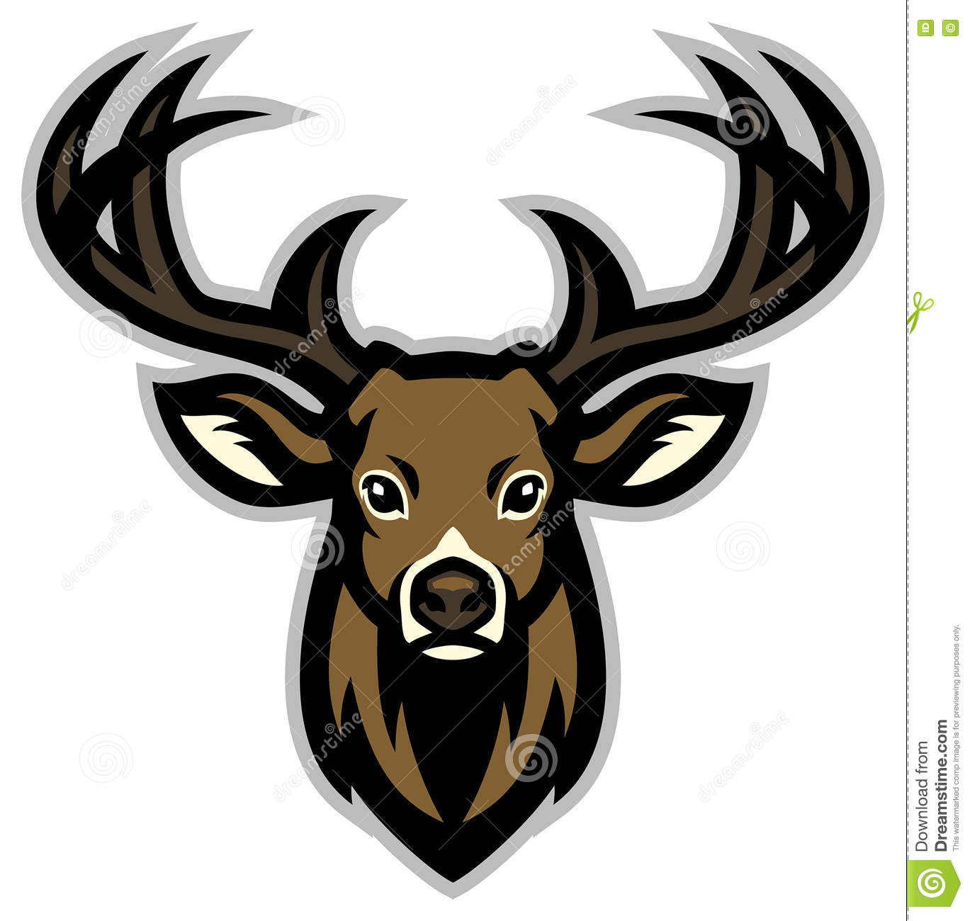 angry moose head stock vector image 40305534
