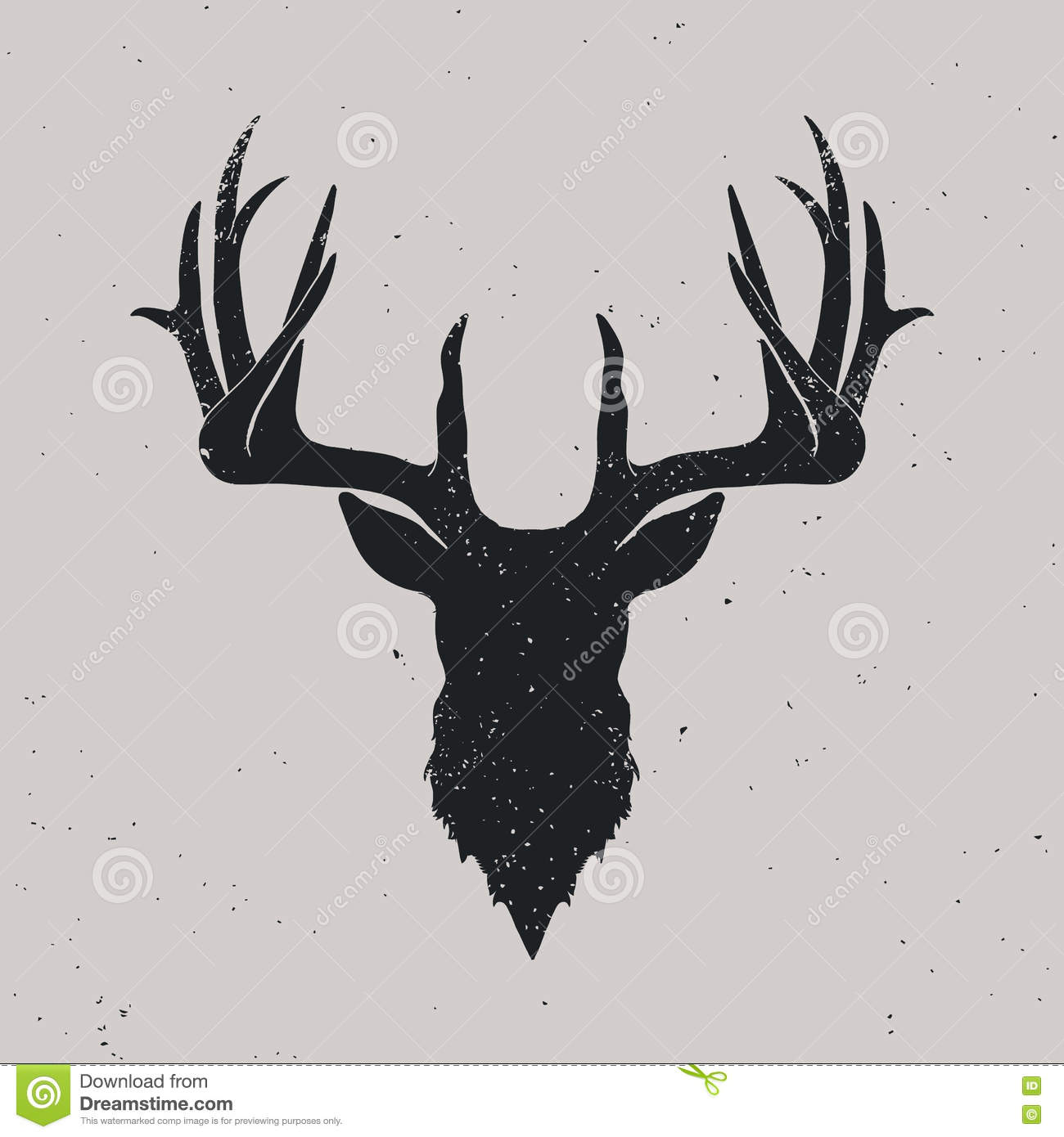 Deer Head Silhouette Stock Vector Illustration Of Background 71823361