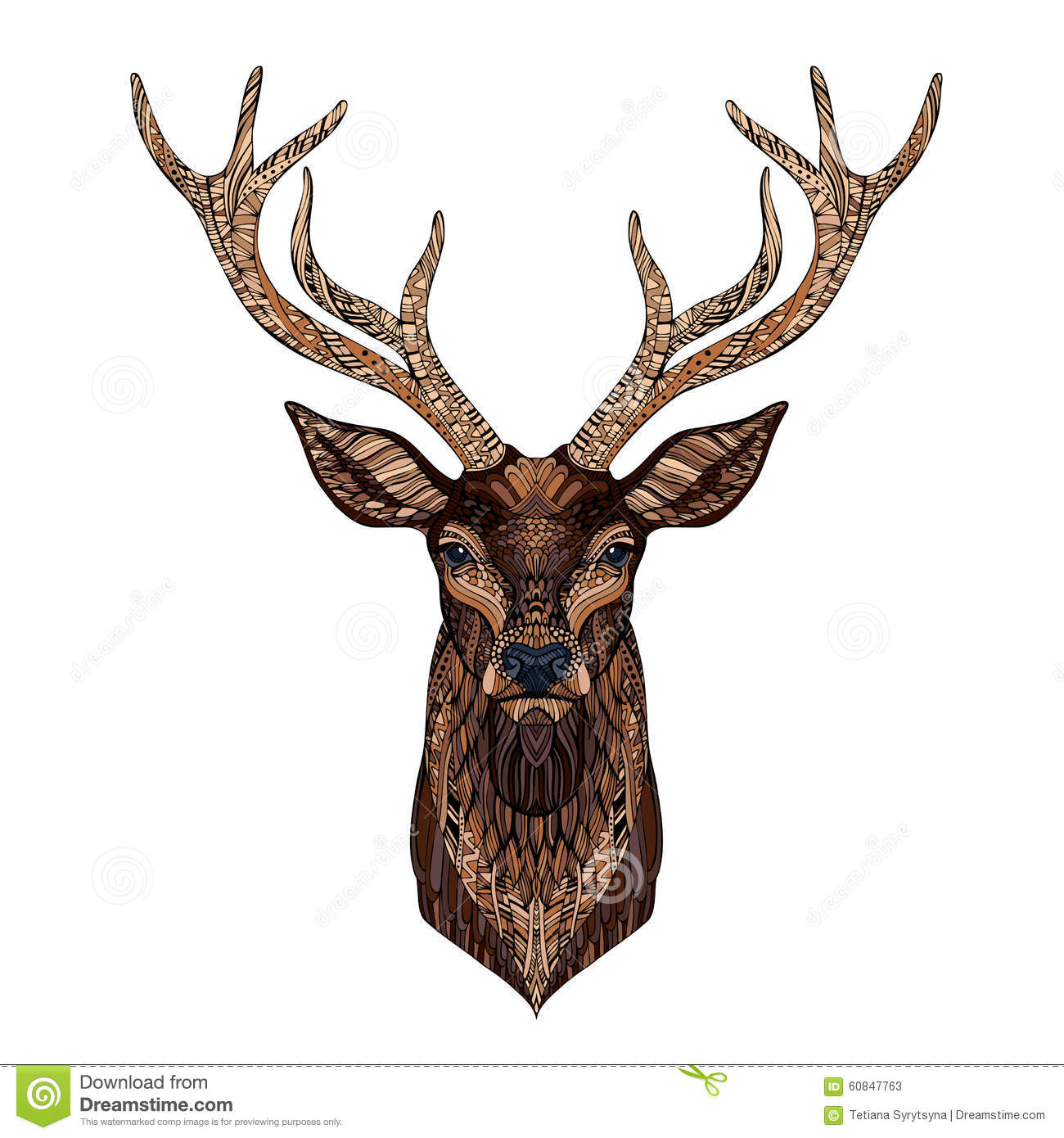 deer head stylized in zentangle style stock vector clip art giraffe free clip art giraffe free
