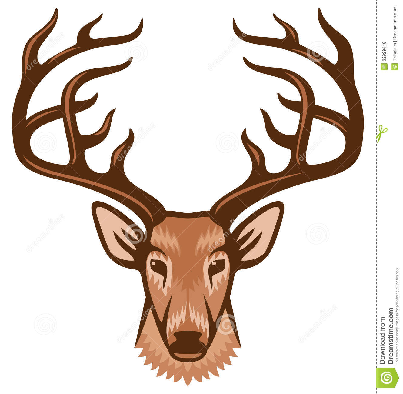 Deer Head Royalty Free Stock Photos - Image: 32929418