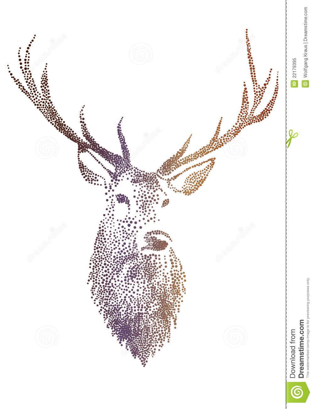 Deer Head, Vector Royalty Free Stock Photo - Image: 22179395