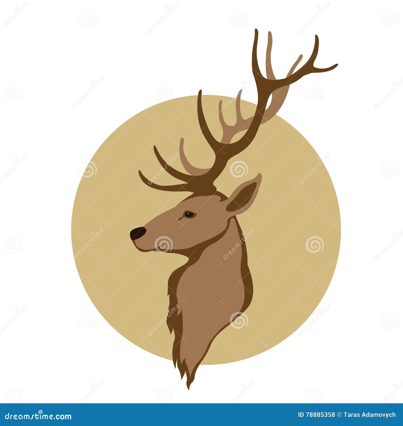 Deer Head Vector Illustration Style Flat Stock Vector ...