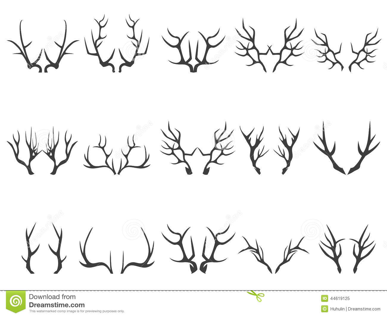 Deer Horns Cartoon Vector Cartoondealer Com 2650859