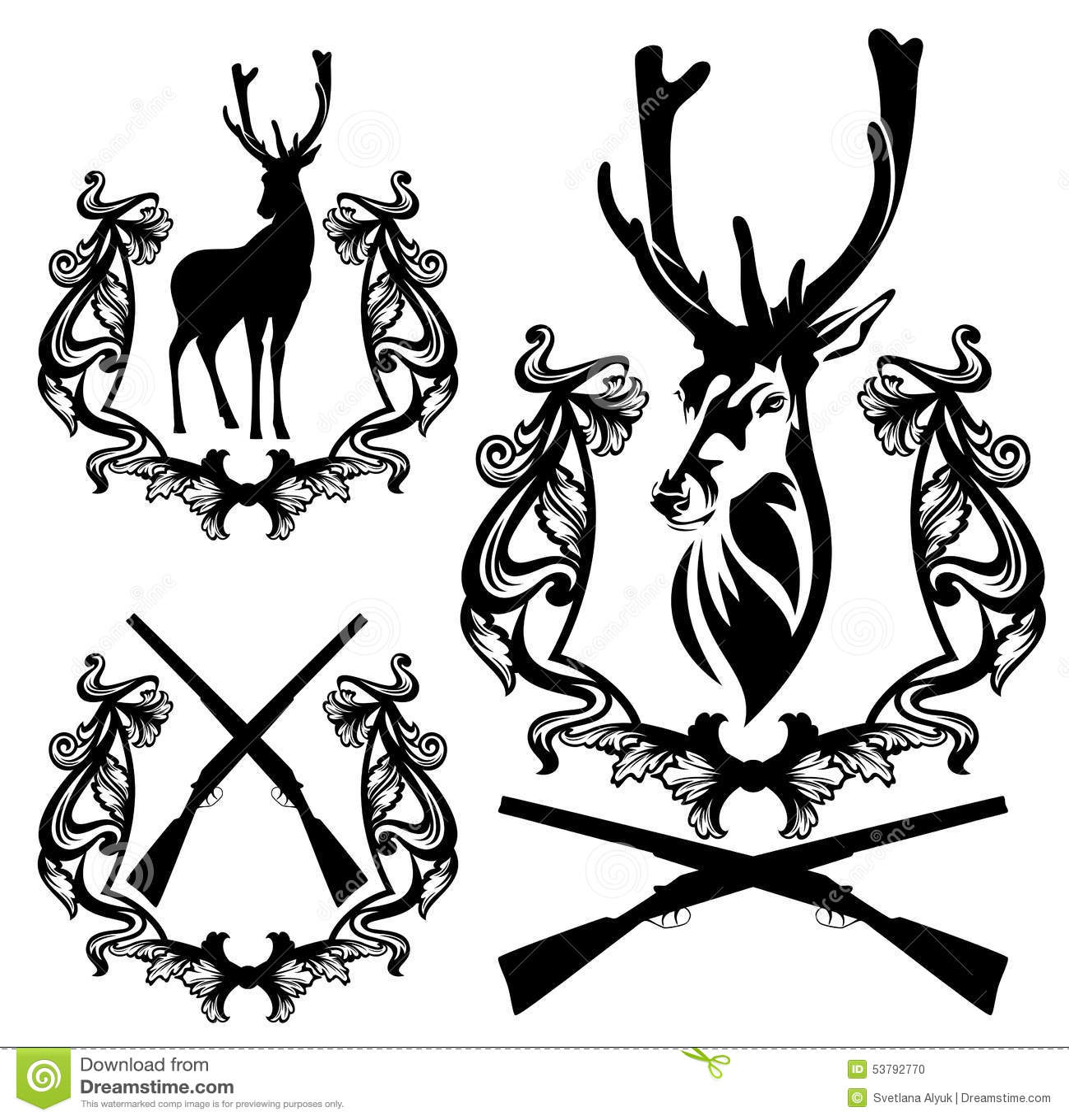 browning deer head heart logo sketch coloring page