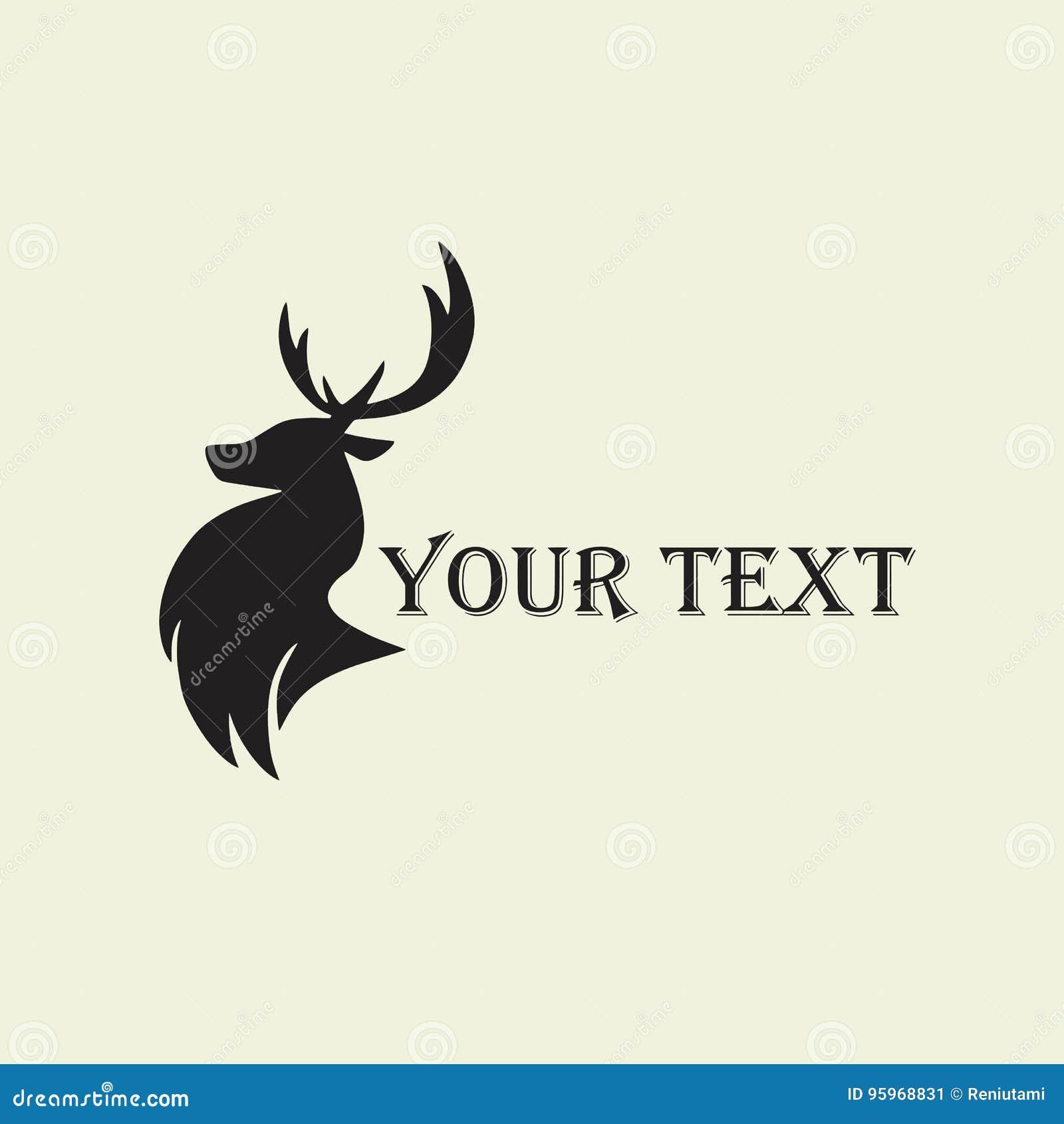 deer hunting silhouette template vector design logo stock vector
