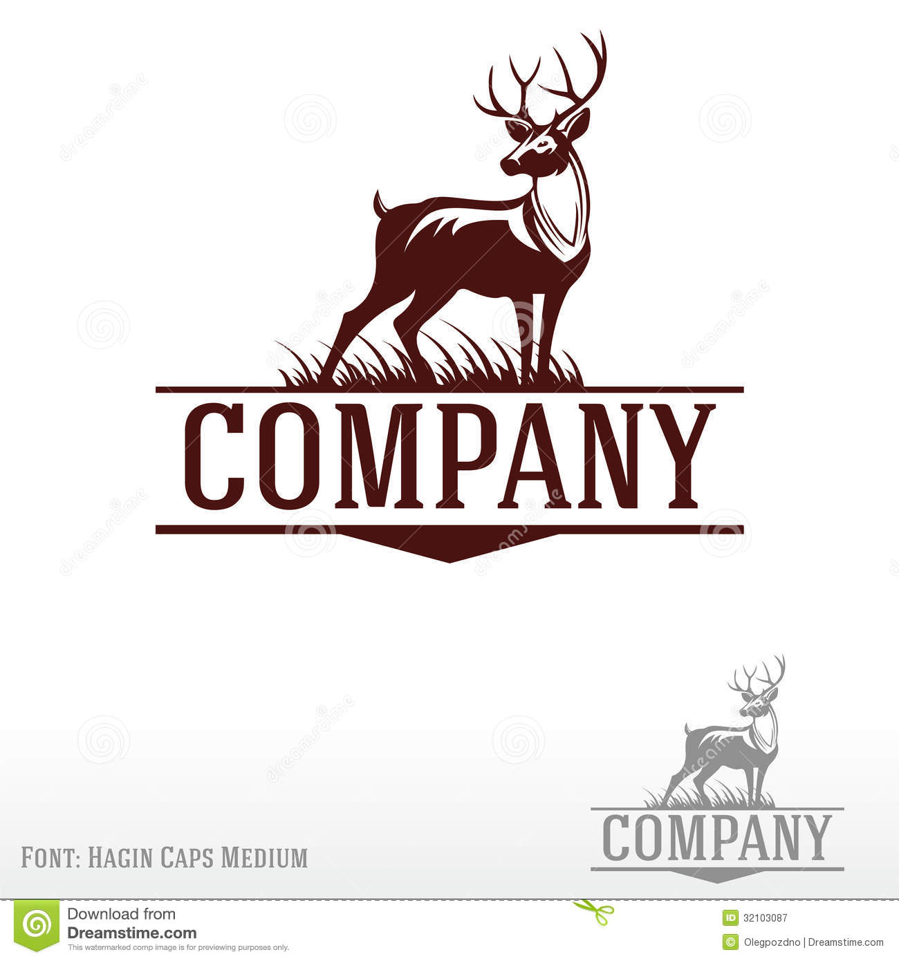 Deer Logo Royalty Free Stock Photography - Image: 32103087