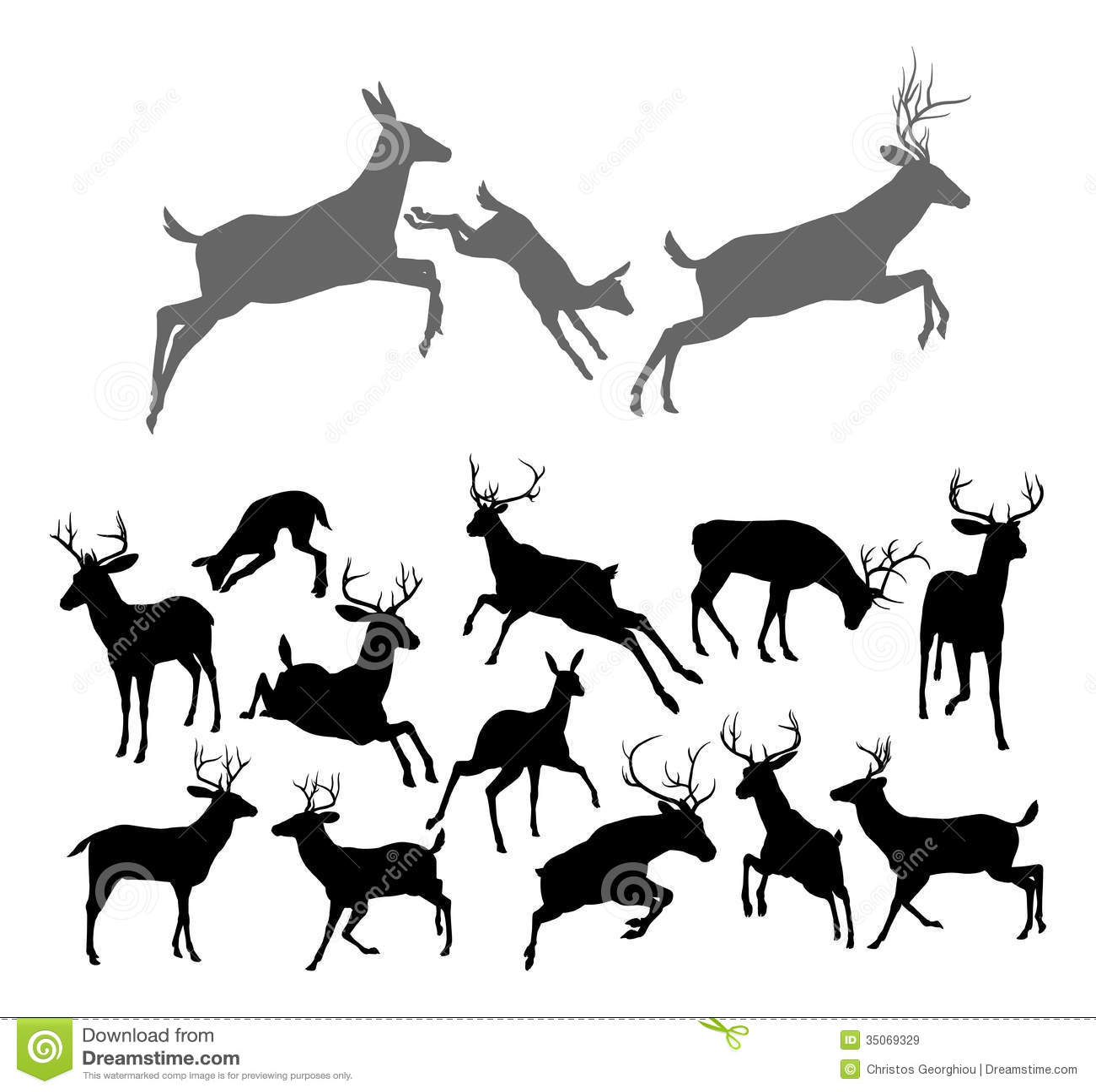 deer silhouettes illustration 35069329 megapixl