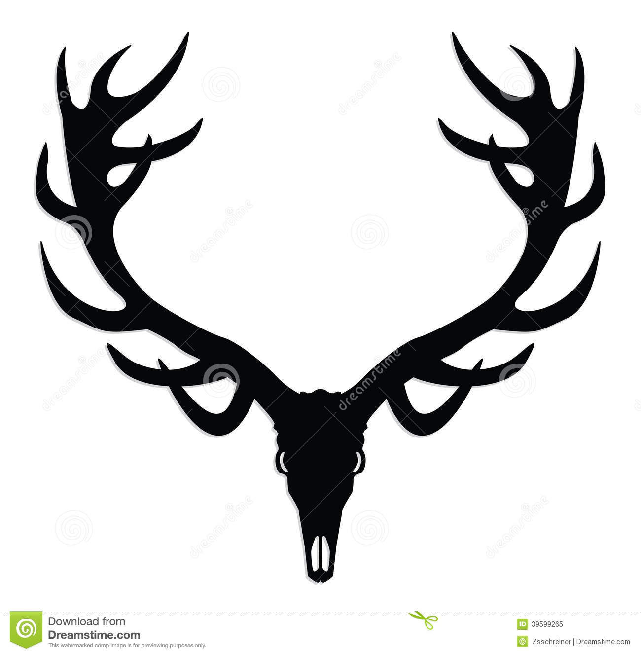 deer skull with antlers stock illustration illustration of horn rh dreamstime com deer skull mount clip art deer skull clip art graphics