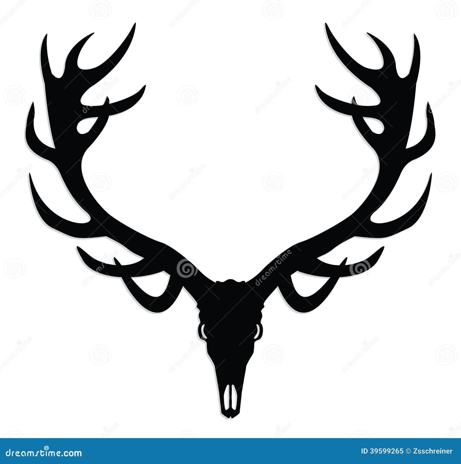 deer skull with antlers stock illustration illustration of horn rh dreamstime com deer skull mount vector deer skull vector free