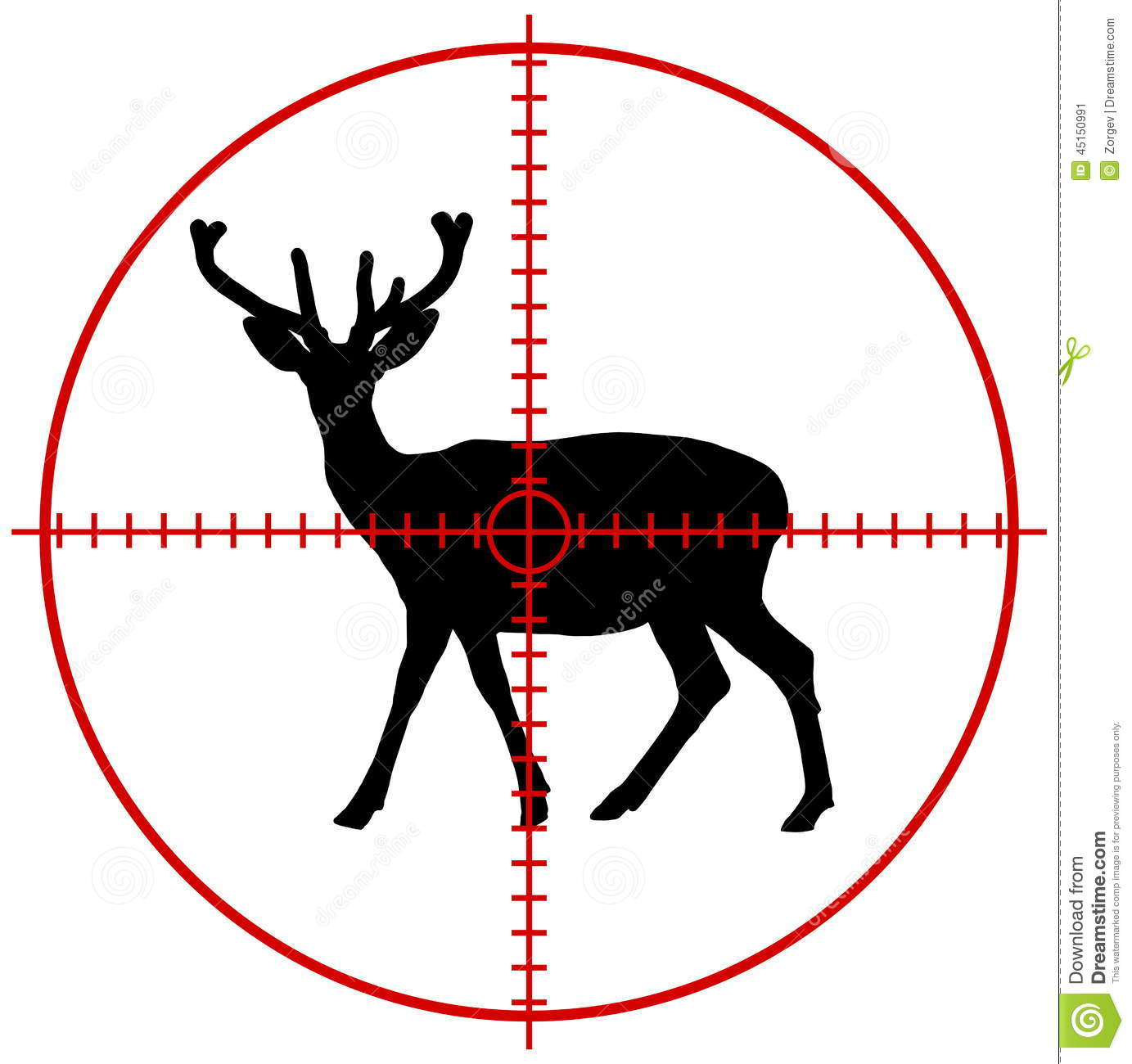 Deer In A Target Stock Photo - Image: 45150991