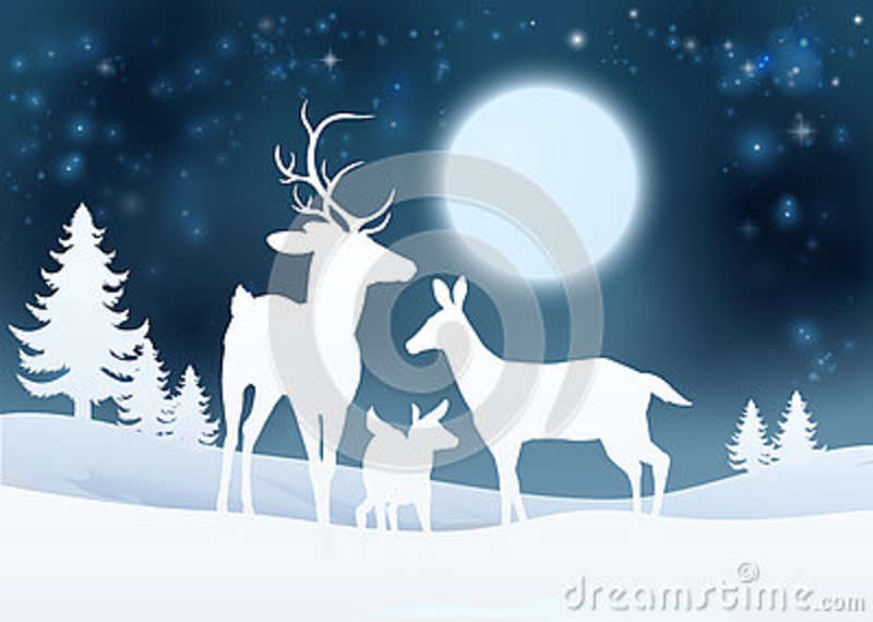deer winter scene background stock vector illustration of holiday