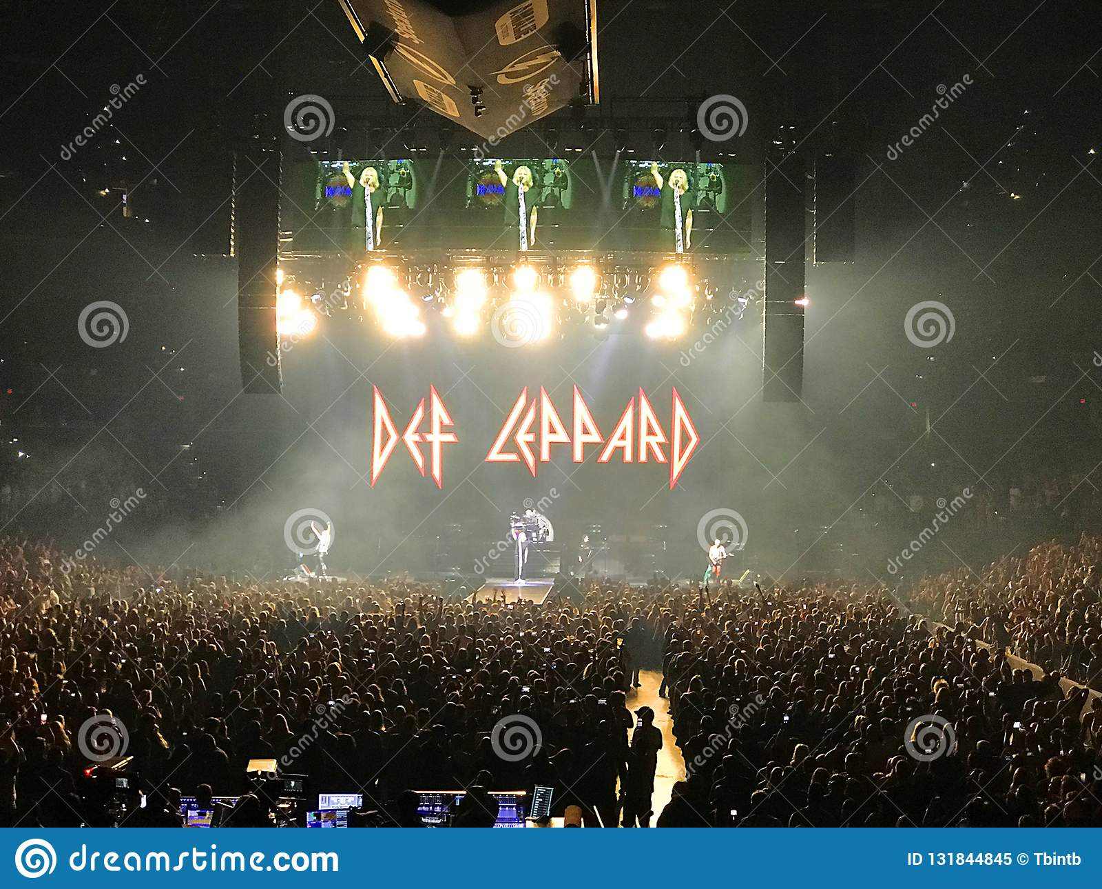 Def Leppard in scena ad Amalie Arena a Tampa, Florida