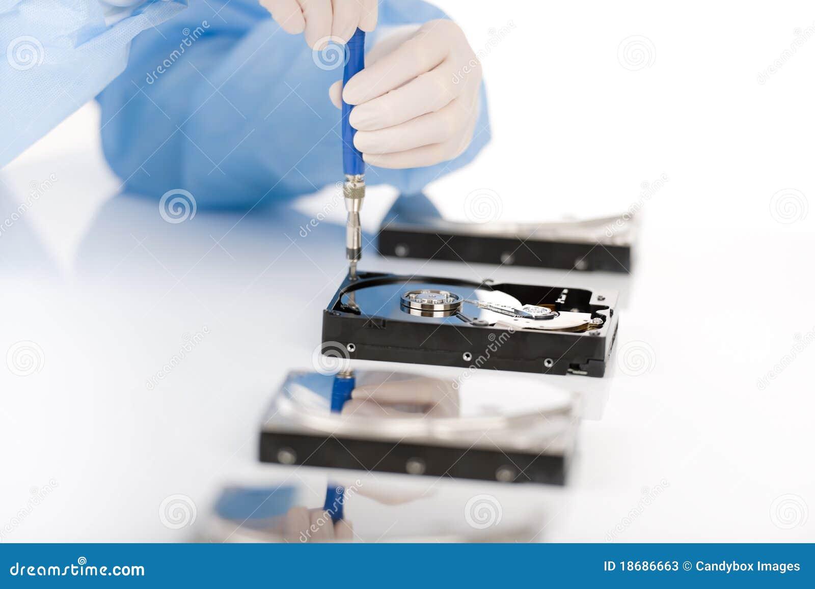 Defeito do disco duro do reparo do coordenador de computador, estéril