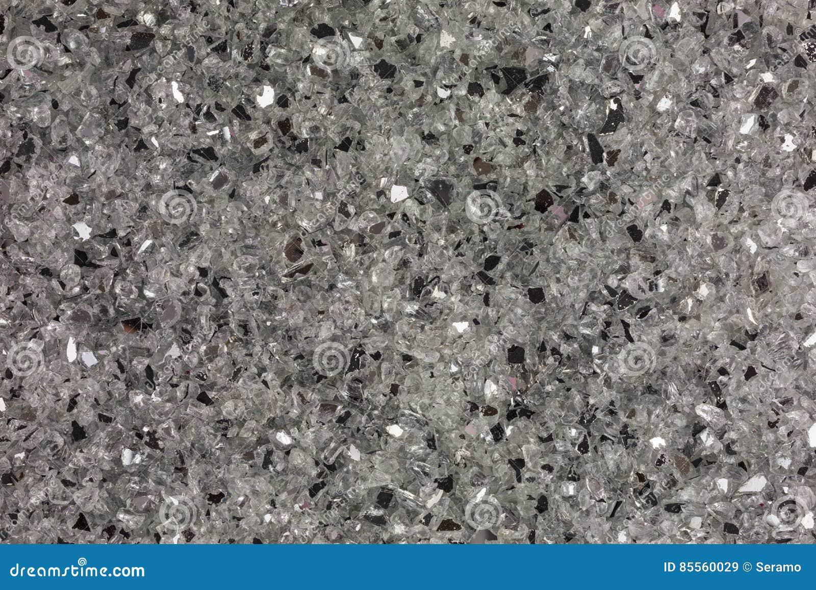 Defekte Stückchen des weißen Glases