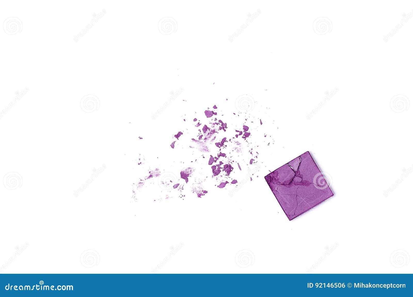 Defekter Lidschatten lokalisiert auf weißem Hintergrund
